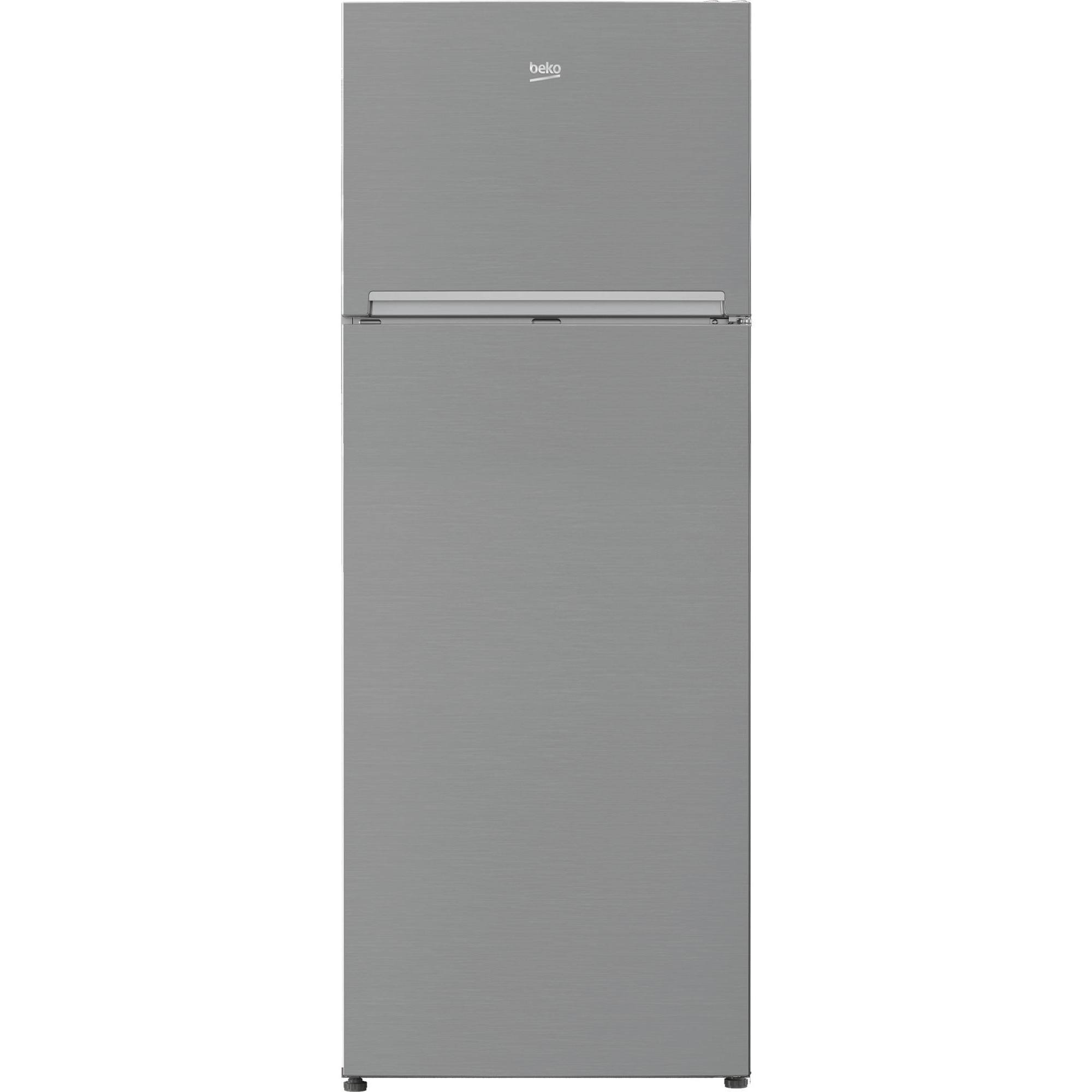 Fotografie Frigider cu doua usi Beko RDNE505K30XPN, 455 l, Clasa F, Neo Frost Dual Cooling, Compresor ProSmart Inverter, Raft sticle, Usi reversibile, H 185 cm, Argintiu
