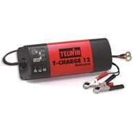 Telwin T-Charge 12, egyfázisú akkumulátortöltő, hordozható, 55 W, 12 V-os akkumulátorokhoz