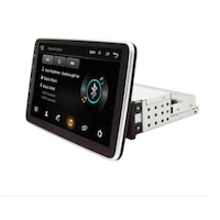 Мултимедия Yavis Trade, 10 инча, универсална медия за автомобил, с Android, Bluetooth, GPS, Digital LCD Monitor, HD, WiFi, 2 GB RAM, черен