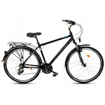 """Férfi kerékpár Alumínium trekking Goetze Tour 28'' kerék 21"""" 182 - 200 cm magassag, Fekete"""