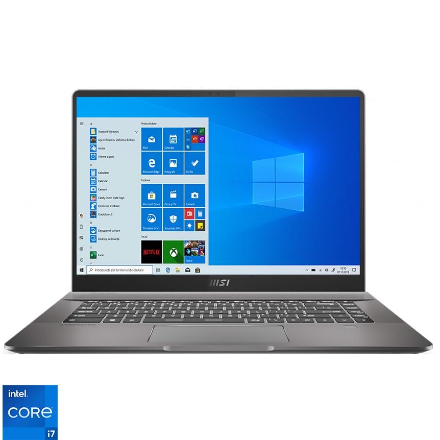 "Fotografie Laptop MSI Creator Z16 A11UET-049RO cu procesor Intel® Core™ i7-11800H, 16"", QHD+, 32GB, 1TB SSD, NVIDIA® GeForce RTX™ 3060 6GB, Windows 10 Pro, Lunar Gray"