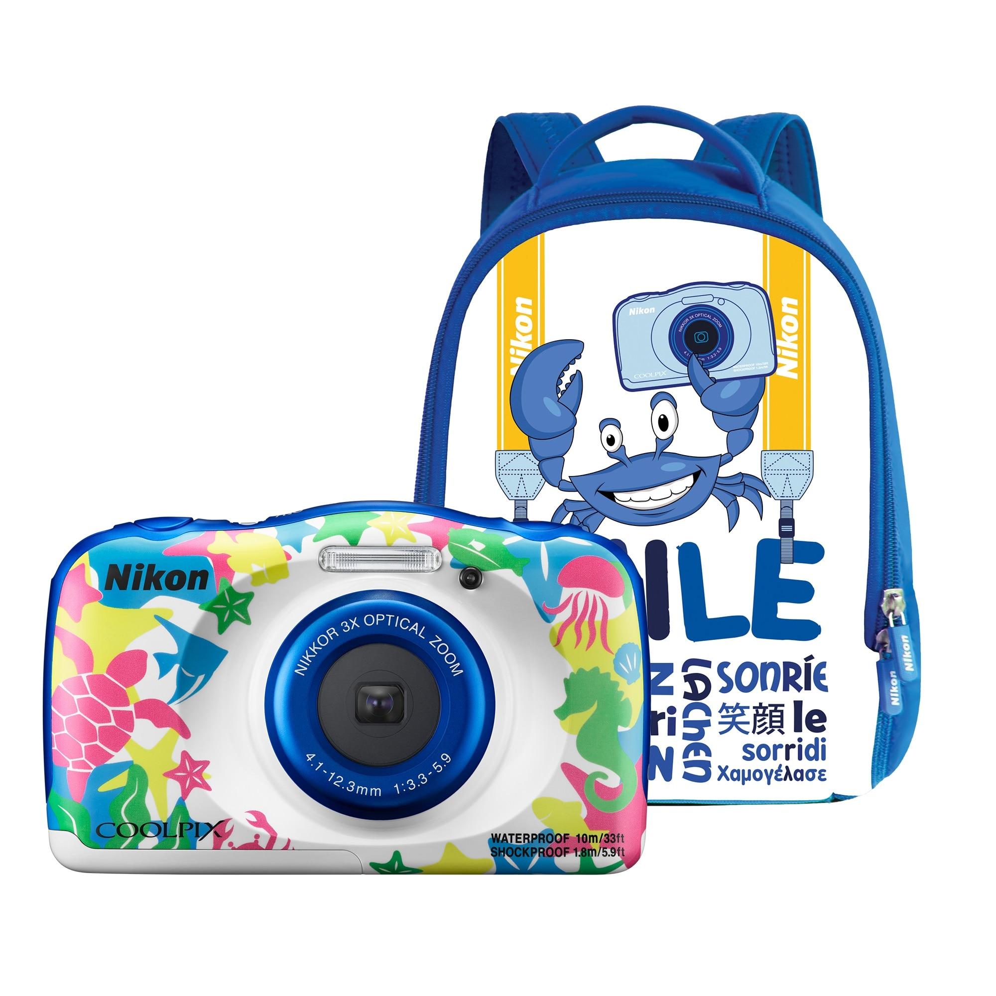 Fotografie Aparat foto digital Nikon COOLPIX WATERPROOF W100, Backpack Kit, Marine