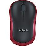 Mouse Logitech M185, USB, Rosu