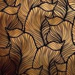 Arany levelek pozitív öntapadós tapéta 45cm x 1,5 méter