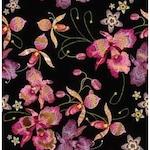 Pink orhidea fekete arany öntapadós tapéta 45cm x 1,5 méter