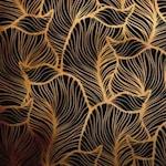 Arany levelek negatív öntapadós tapéta 45cm x 1,5 méter
