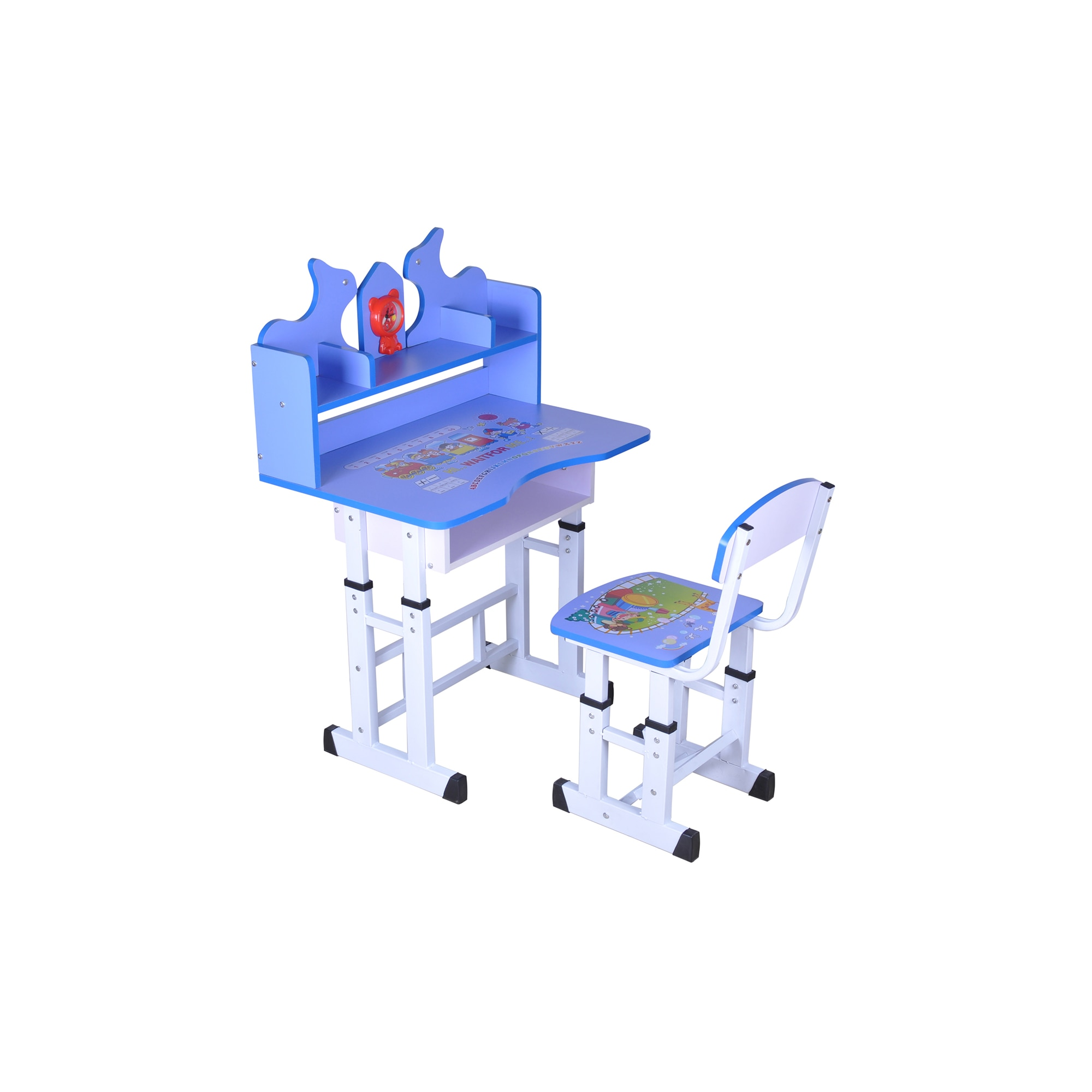 Fotografie Set birou copii Unic Spot cu scaun, Albastru