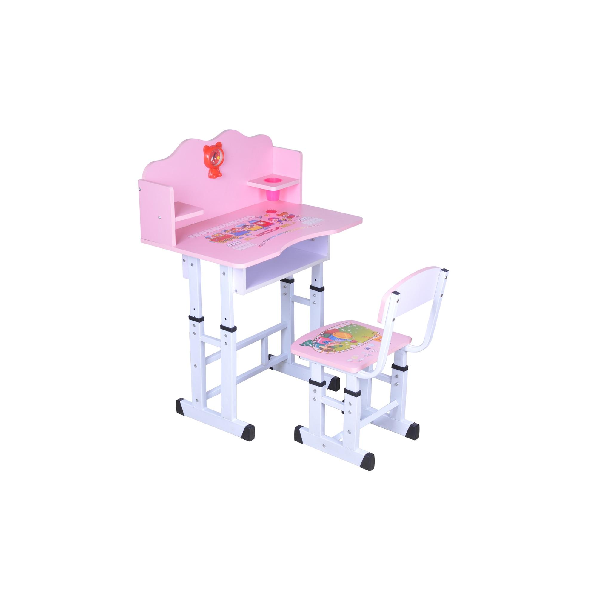 Fotografie Set birou copii Unic Spot cu scaun, Roz