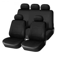 Калъфи/тапицерия за предни и задни седалки Flexzon, Пълен комплект, Универсални, Черни