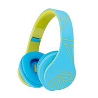 PowerLocus P2 Bluetooth fejhallgató, 85DB Csökkentett hangerőszint, gyerekeknek, Kékeszöld