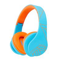 PowerLocus P2 Bluetooth fejhallgató, 85DB Csökkentett hangerőszint, gyerekeknek, Narancssárga