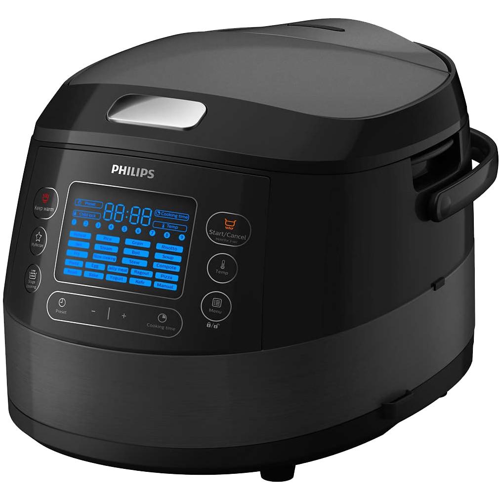 Fotografie Multicooker Philips HD4749/70, 1070 W, 5 L, functie Slow-Cooker, 22 Programe automate, Negru