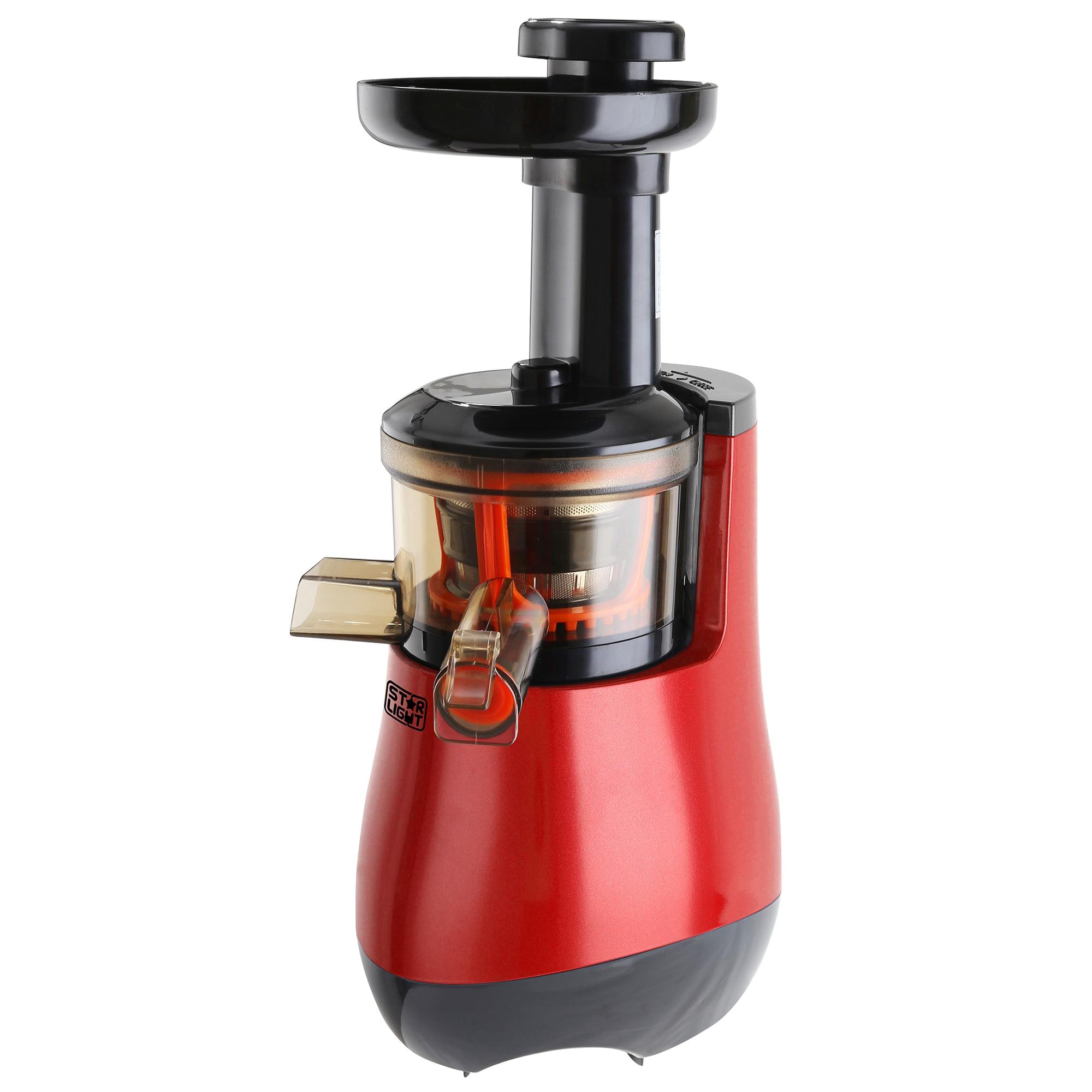 Fotografie Storcator de fructe si legume cu melc Star-Light SJB-150R, 150 W, 55 RPM, Recipient suc 1.0 l, Recipient pulpa 0.8 l, Functie Reverse, Rosu