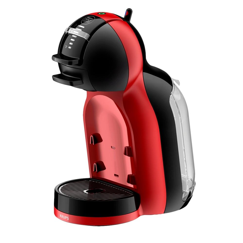 Fotografie Espressor cu capsule Krups NESCAFÉ® Dolce Gusto® Mini Me KP120H31, 1500 W, 15 bari, functie eco, capacitate rezervor 0.8 L, rosu-negru