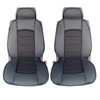Универсални калъфи/тапицерия за предни седалки Flexzon, Масажор, Черни