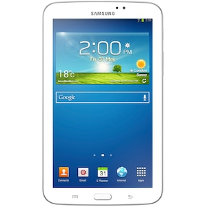 "Tableta Samsung Galaxy Tab 3 cu procesor Dual-Core™ Marvell PXA986 1.20GHz, 7"", 1GB DDR2, 8GB, Wi-Fi, GPS, Android 4.1 Jelly Bean, White"