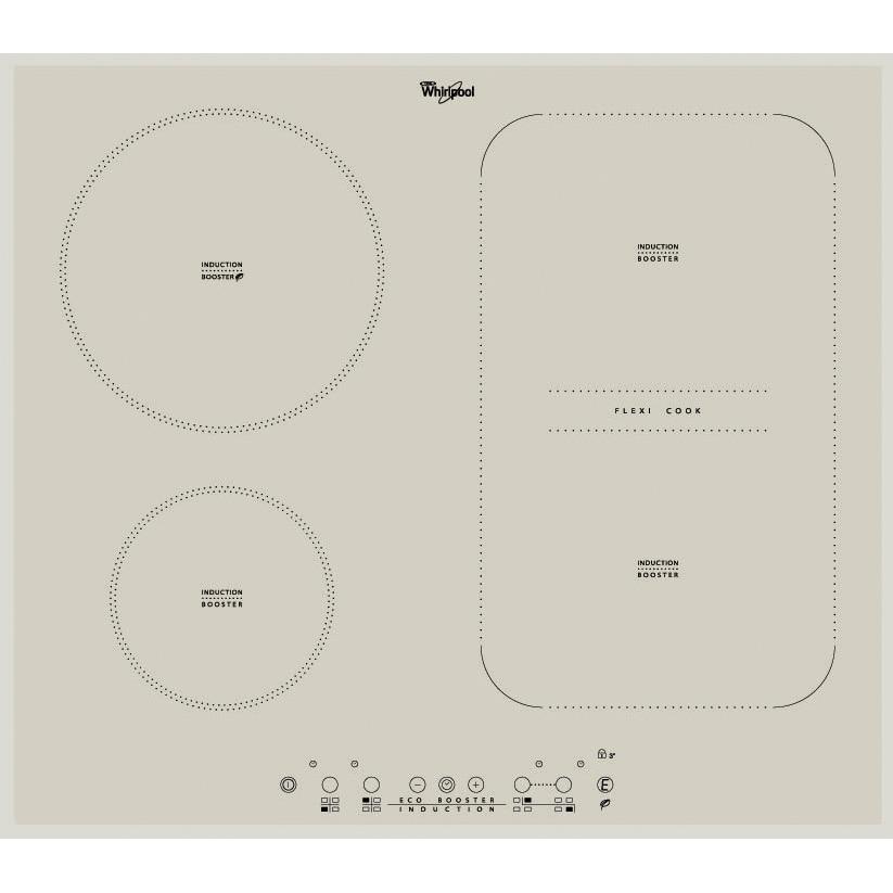 Fotografie Plita incorporabila Whirlpool ACM 808 BA S, Inductie, 4 zone de gatit, Touch Control, Silver