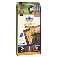 Hrana uscata pentru caini Bosch, Adult, Pasare & Mei, 15Kg