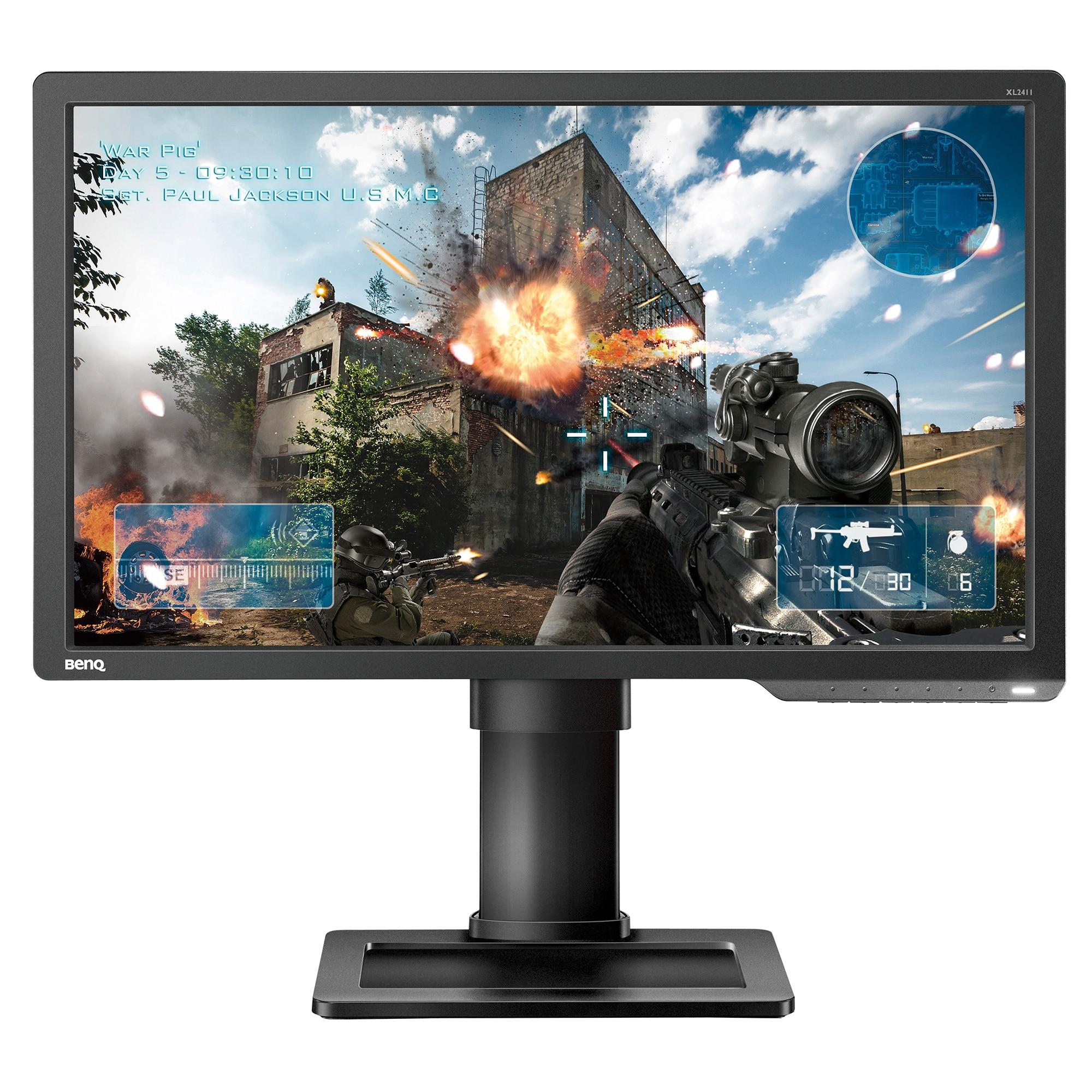 """Fotografie Monitor Gaming LED TN BenQ ZOWIE 24"""", 1 ms, 144 hz, Full HD, HDMI, DisplayPort, DVI, Pivot, FlickerFree, XL2411P, Negru"""