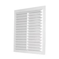 Grila ventilatie rectangulara cu plasa anti-insecte, Dospel D/ 235 W, material ABS, alb