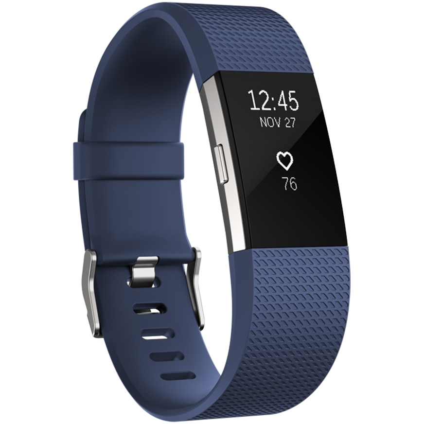 Fotografie Bratara fitness Fitbit Charge 2, Blue Silver, Small