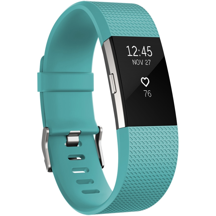 Fotografie Bratara fitness Fitbit Charge 2, Teal Silver, Small