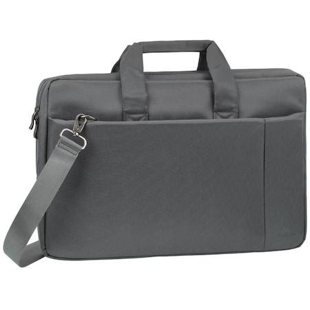 """Чанта за лаптоп Rivacase 8251, 17"""", Сива"""