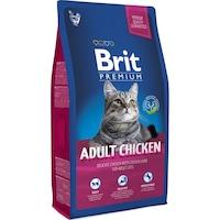 Суха храна за котки Brit Premium, Adult, Пиле, 8 кг