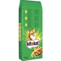 Суха храна за котки Kitekat Пиле & Зеленчуци, 12 кг