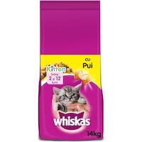 Суха храна за котки Whiskas Junior, Пиле, 14 кг