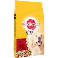 Суха храна за кучета Pedigree Adult, Телешко & Птиче месо, 10 кг