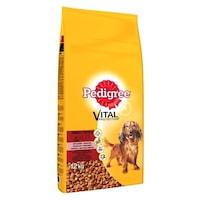 Суха храна за кучета Pedigree Малка талия, Телешко & Зеленчуци, 12 кг