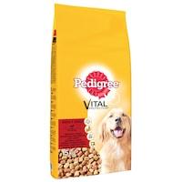 Суха храна за кучета Pedigree Adult, Телешко & Птиче месо, 15 кг
