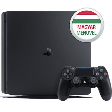 Sony Playstation 4 SLIM konzol, 500 GB, Fekete