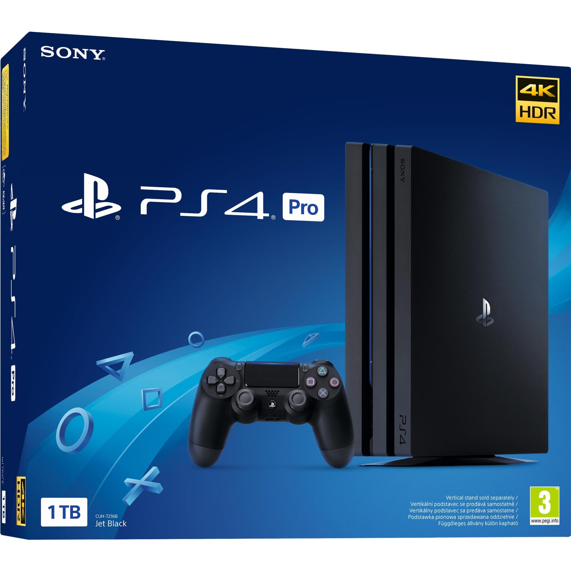 Fotografie Consola Sony Playstation 4 PRO (NEO), 1TB, Negru