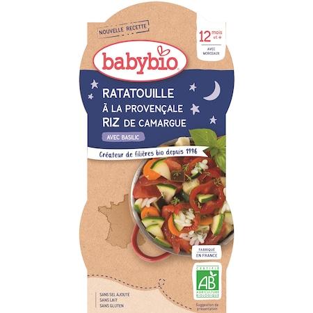 Meniu Babybio cu ratatouille a la Provancale si orez 2 x 200 g, de la 12 luni