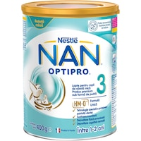 Lapte praf Nestle NAN 3 Optipro, 400 g, 1-2 ani