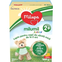 Lapte de crestere Milupa Milumil Junior 2+, 1200 g, de la 2 ani