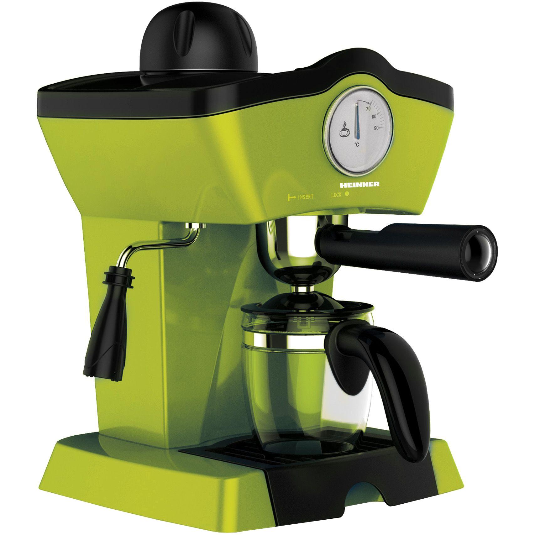 Fotografie Espressor manual Heinner Charm HEM-200GR, 800W, 250ml, 3.5 bar, Verde