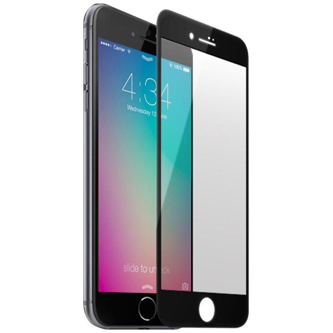 Fotografie Folie de protectie A+ Tempered Glass 3D pentru iPhone 8 Plus / iPhone 7 Plus, Black