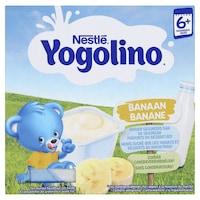 Nestle Yogolino Tejalapú banános bébidesszert, 6hó+, 4x100g