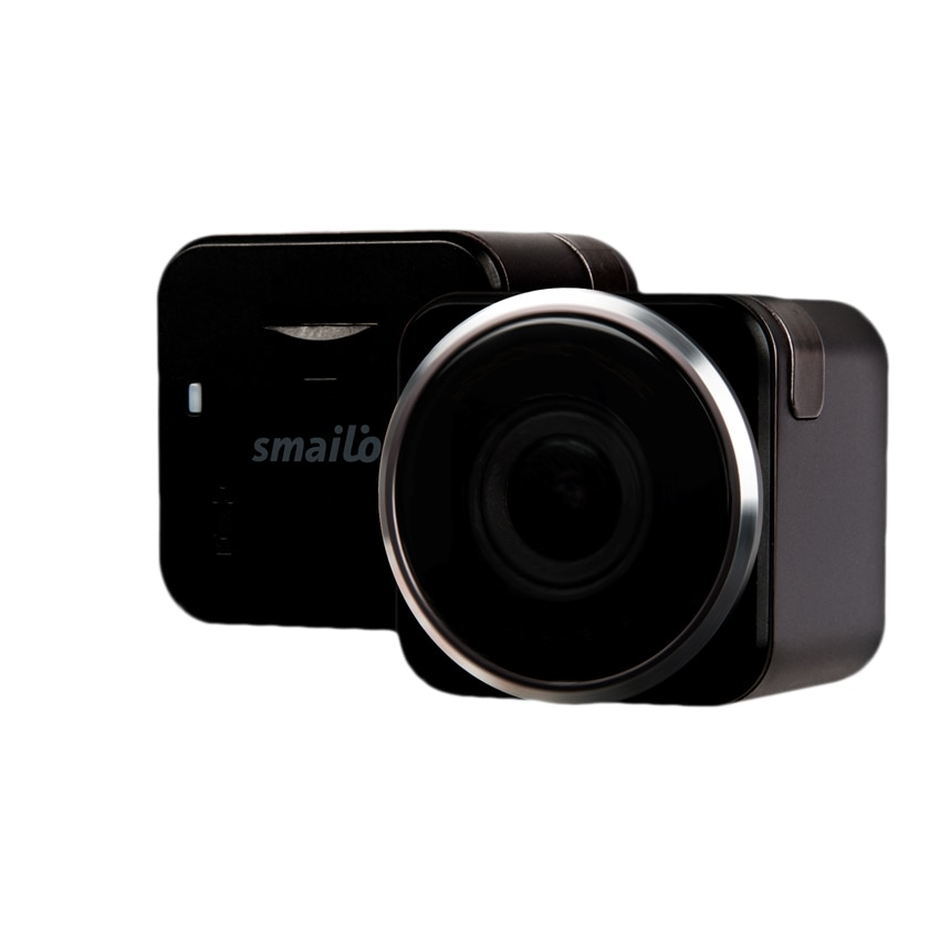 Fotografie Camera auto DVR Smailo Vision, Full HD, 155 grade, Argintiu