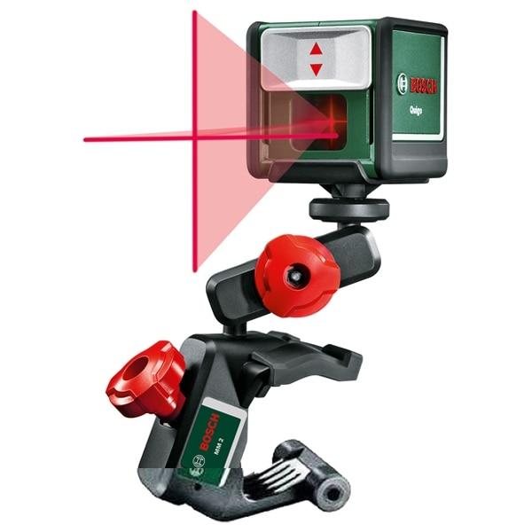 Fotografie Nivela laser Bosch Quigo III cu linii in cruce, 10 m domeniu lucru, +/- 0,8 mm/m precizie, 635 nm dioda laser, accesorii incluse