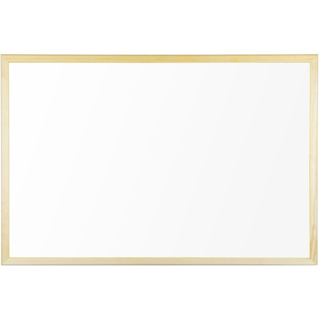Fotografie Tabla nemagnetica cu rama lemn 60 x 40cm Bi-Silque