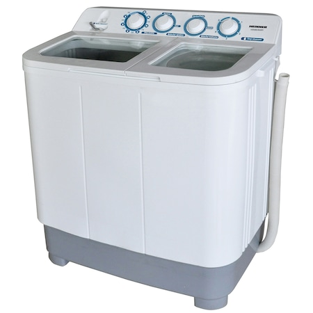 Полуавтоматична пералня Heinner HSWM-84WH, 8 кг, 4.6 кг, 2 Отделения, Бяла