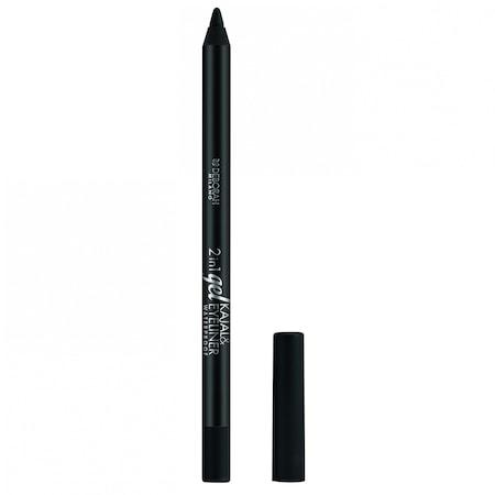 2 in1 Gel Kajal Eyeliner Pencil Black