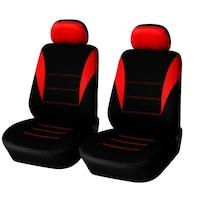 Калъфи/тапицерия за предни седалки Flexzon, Универсални, Червени