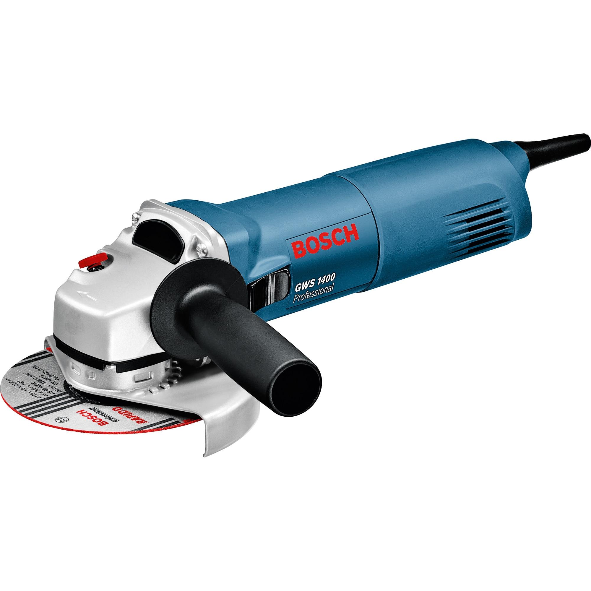Fotografie Polizor unghiular (flex) Bosch Professional GWS 1400, 1400W, 11000 RPM, 125mm