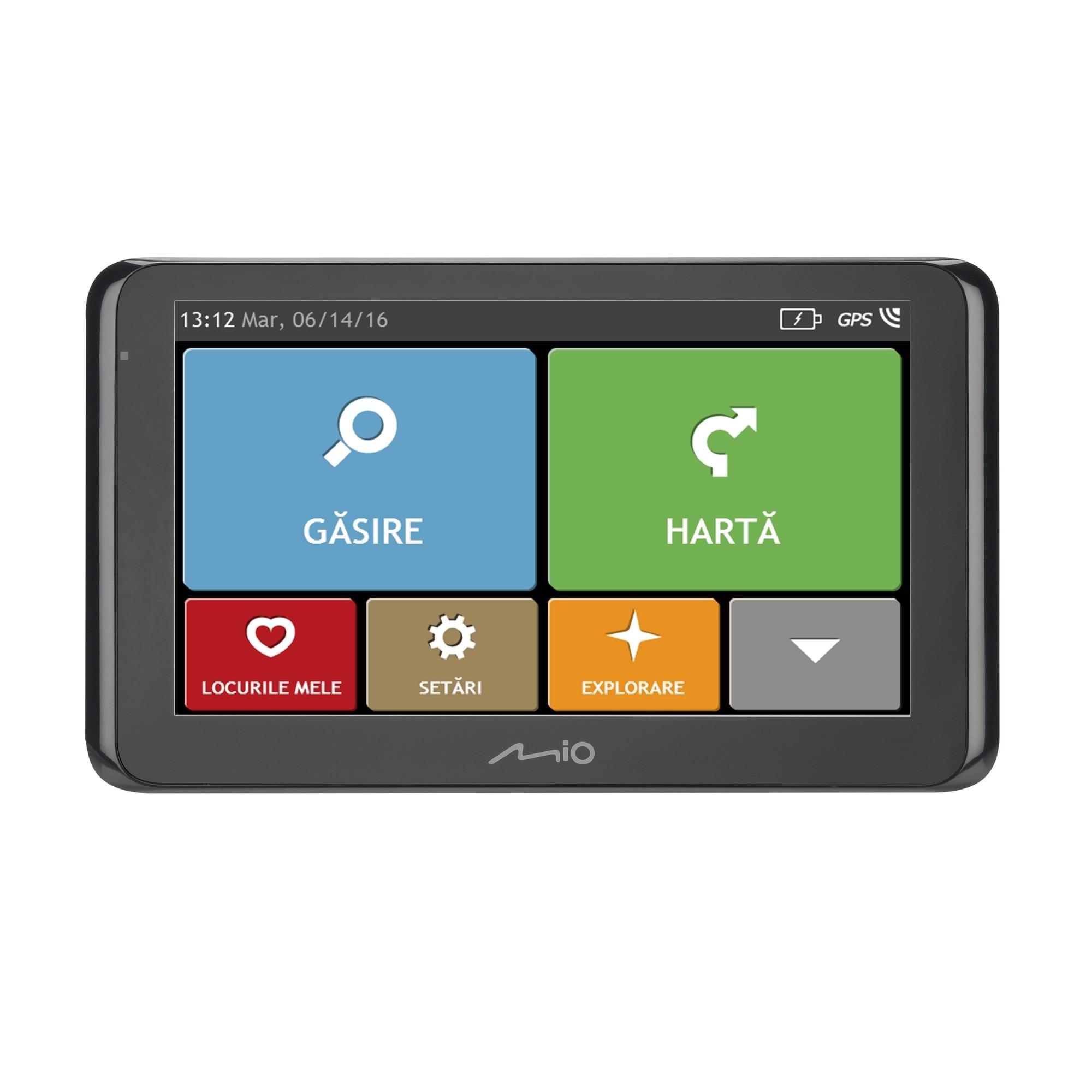 """Fotografie Sistem de navigatie Mio Spirit 8670 LM, diagonala 6.2"""", Bluetooth, TMC, Full Europe + actualizari gratuite pe viata"""