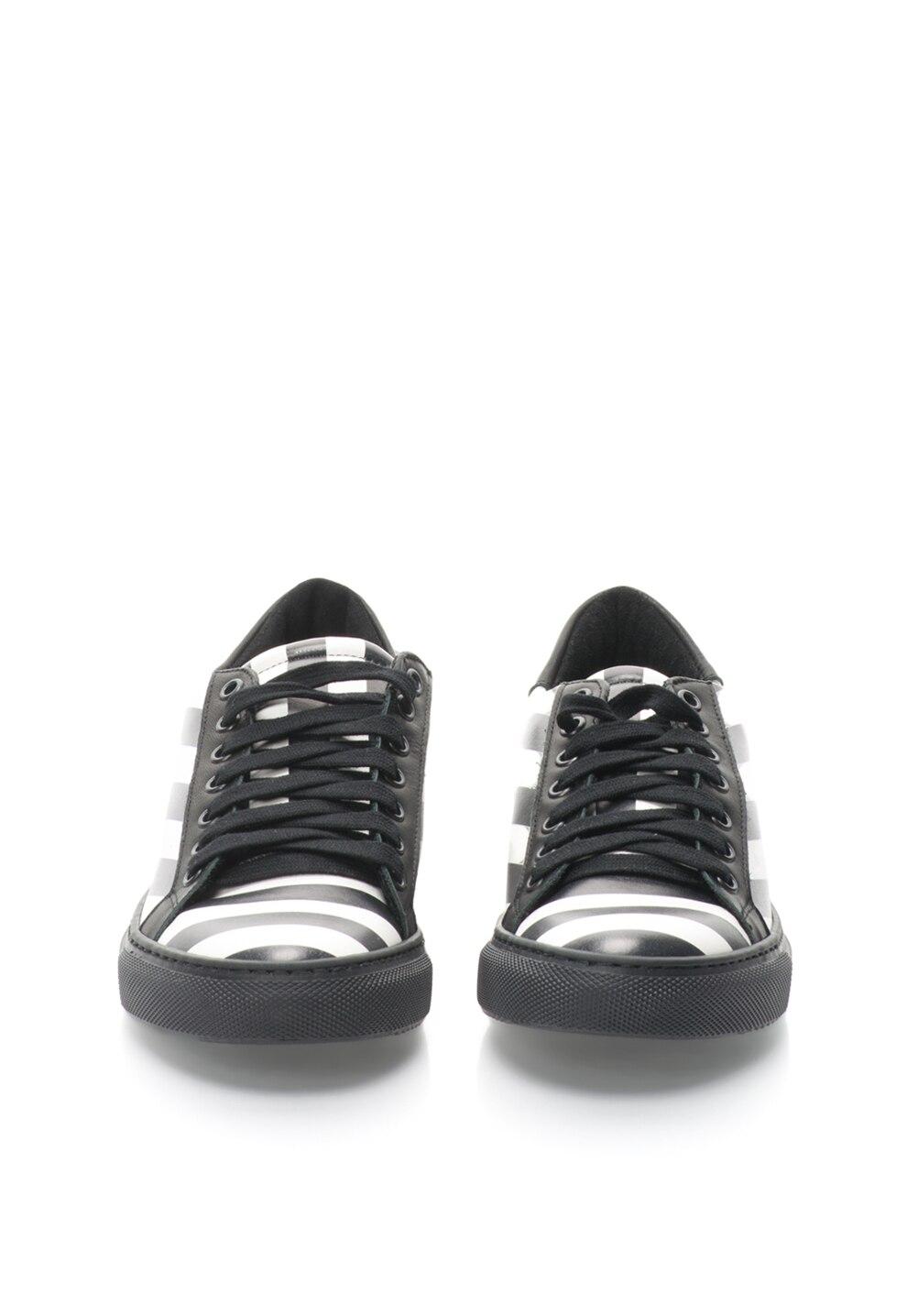 Zee Lane Fekete & Fehér Csíkos Cipő 35